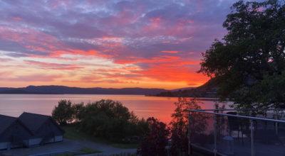 Solnedgang i Hardanger